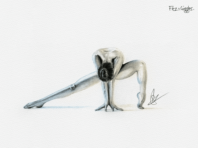 Nude Yoga Girl - Pencil Sketch By Steve Irvine - Dribbble-2912
