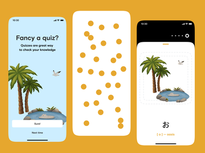 App for studying Japanese app mobile clean japanese education illustration ux ui ios mobile app