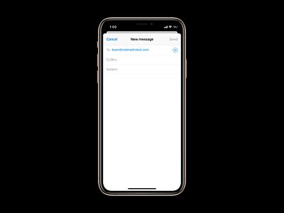 iOS 13 / Split View / Multitasking principle multitasking mail ios13 custom concept ios interaction app animation