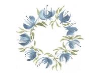 Floral wheel.-