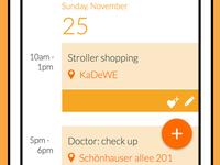 calendar mobile app design
