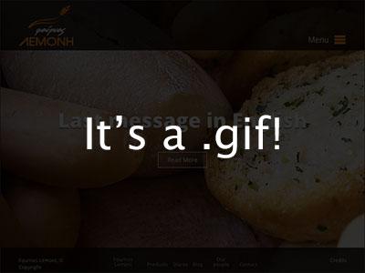 Fournos project: homepage + animation open sans translucency orange gif