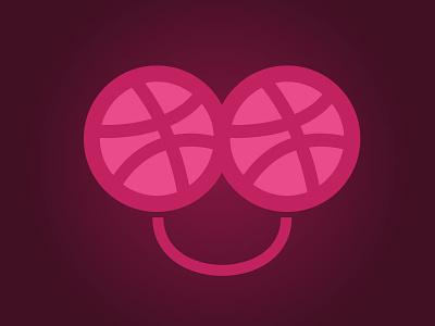Happy Dribbbler smile dribbble sticker sticker eyebbballs
