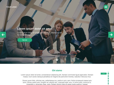 Business Template with Carousel