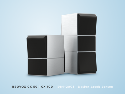 Beovox CX 50 & CX 100 vintage illustration brushed metal hifiberry design audio 3d icons beocreate bang  olufsen