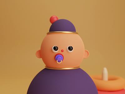 Dude animation ux ui visual blender toy illustration 3d design