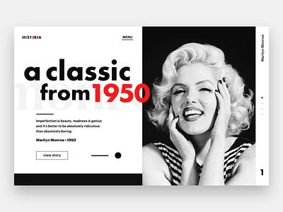 Marilyn Monroe sketch great old art designer web design ux ui