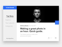 A News Website Interface Concept