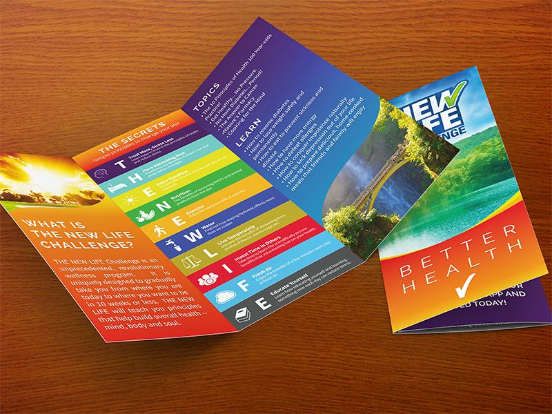 New Life Challenge Brochure brochure design health wellness natural medicine the new life challenge