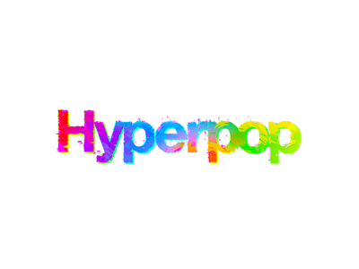 Hyperpop Logo thinklumi lumi vector illustrator illustration logodesign apple neon colorful branding background image brand logo pop bubblegum bass hyperpop