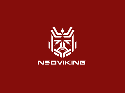 Neoviking Logo thinklumi fashion techwear tech minimal futuristic scandinavian norse viking logo design branding logo