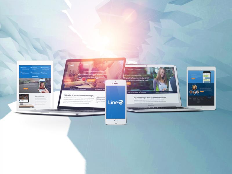 Line2 Landing Pages ux mobile designer sf landing page web design san francisco ui