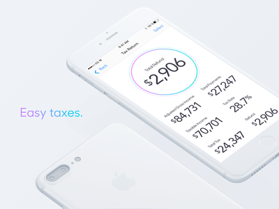 Tax App clean simple tax return san francisco design user interface product design ux ui