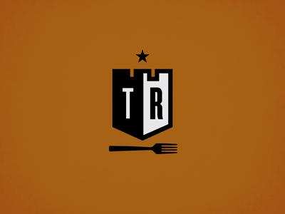 TR logo identity branding shield fork star emblem logo castle