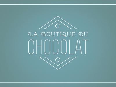 Logo for La Boutique Du Chocolat logo line diamond geometric boutique chocolate identity branding
