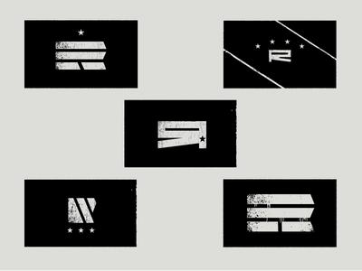 """R"" Resistance flag concepts resistance propaganda flag star r paint"