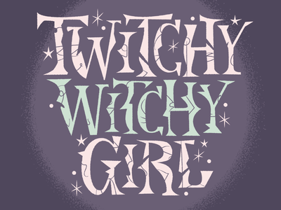 Twitchy lettering halloween spooky type font typography lettering illustration
