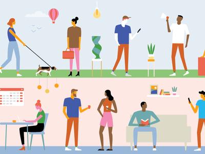 AIGA aiga orange county editorial illustration illustrator vector figures people illustration