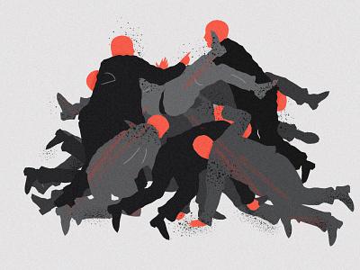 Politics vector illustration vector political editorial illustration illustration people figures punch fight suits men argument brexit politics politician politicians