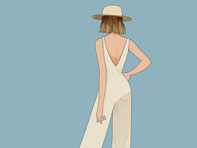 Summertimes summer outfit illustration woman