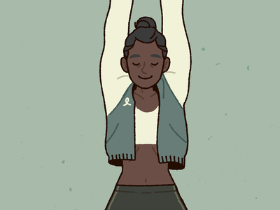 Knot Apparel women fitness illustration imaginary clothing brand