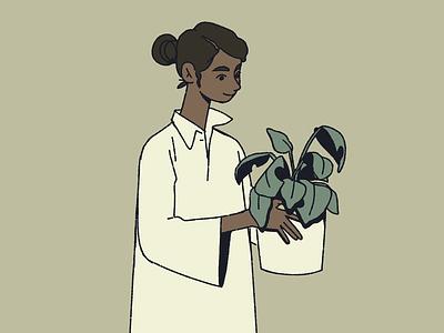 Plant Friend plant women illustration