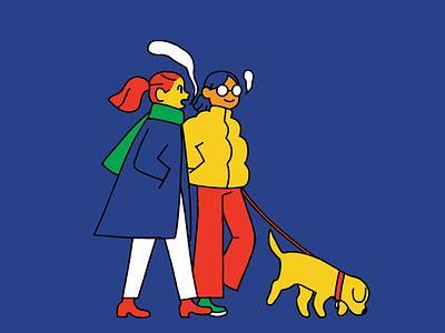 121118 dog women illustration