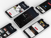 AMP Photo | Google AMP Website Template iphone daily ui ux ui mobile creative design footer menu boxed boxed ui dark ui dark project project website gallery photographer website portfolio photographer photo website photo google amp