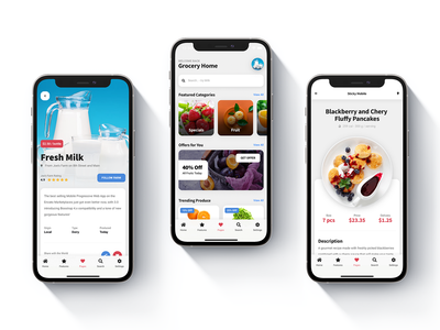 Sticky Mobile - Bootstrap based Food Web App Template card layout footer menu design envato item restaurant website grocery app dailyui pwa mobile kit product page mobile site template ux app ui restaurant app design ui android ios mobile food food app