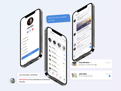 Sticky Mobile for Chat App , Web App or Mobile Websites avatar users chat header chat actions chat groups profile page message app message iphone android ios ui ux mobile design chat bubbles app ui ui app chat chat app site template mobile