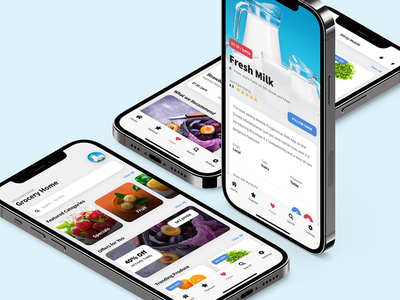 Sticky Mobile - Grocery App Mobile Template - Bootstrap 5 Based grocery app template application app ui app design ux discount card design product grid design product page design slider food food app design grocery app design grocery design iphone android ios ui mobile