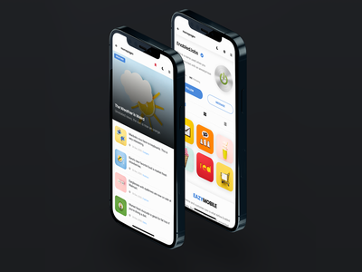 Eazy Mobile   Bootstrap Based Mobile Kit & PWA design sidebar iphone android ios blog page design content page profile page design mobile site template branding creative design application template app ui app design ui template mobile website ui ui mobilekit kit mobile