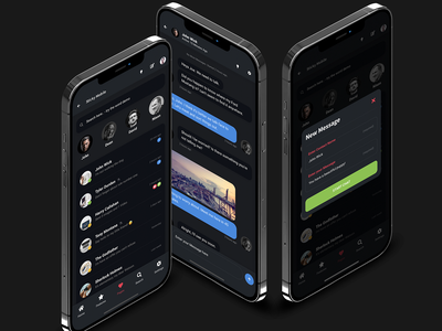 Sticky Mobile for Chat Apps, Mobile Websites or PWAs   Bootstrap bootstrap 5 html site template footer menu iphone android ios dark mode color palette mobile list design mobile site template app template chat app ux dark interface dark ui dark mode app design mobile app ui
