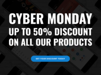 Cyber Monday & Black Friday Discounting All Our Products