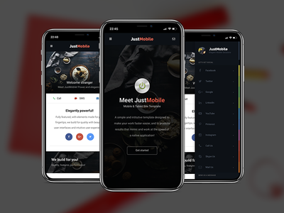 Just Mobile | Mobile Template jquery javascript css3 html5 envato fontawesome template website mobile justmobile