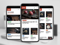 AMP News Mobile | Mobile Google AMP Template