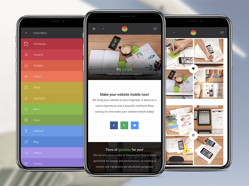Strips   HTML Mobile Template by Enabled on Dribbble