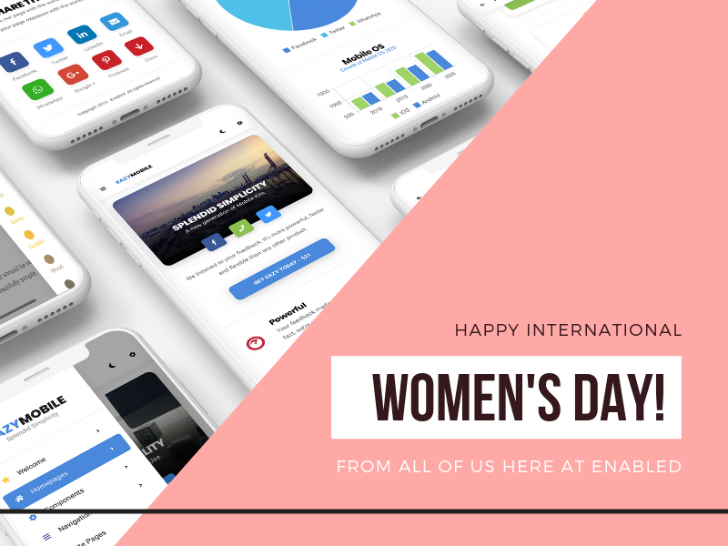 Happy International Women's Day! women in tech ui sidebar css design responsive app html template phonegap cordova galaxy samsung android iphone ios mobile women empowerment womens day women