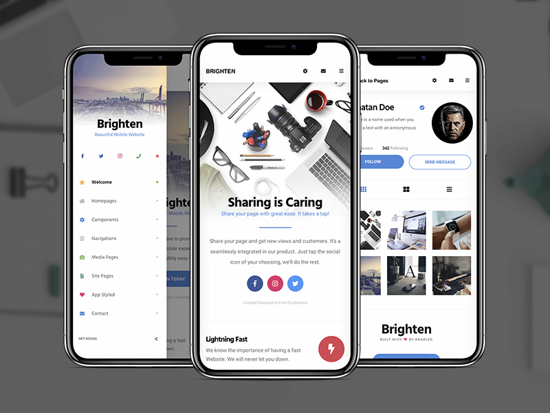 Brighten | PhoneGap & Cordova App Template by Enabled on