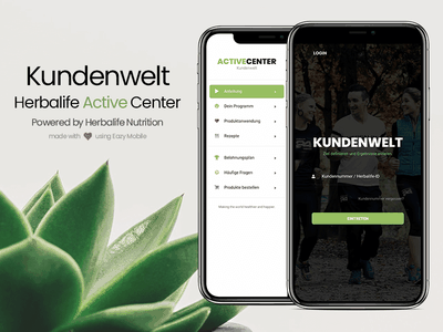 Eazy Mobile   Kundenwelt Powered by Herbalife Nutrition ux ui iphone ios android minimal mobile development ui inspiration sidebar design login page design landing page green theme modern design design template website mobile eazy nutrition herbalife