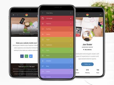 Strips Mobile | HTML Mobile Website Template