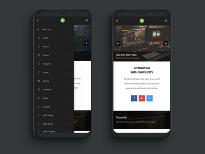 AMP Pro | Google AMP Website Template