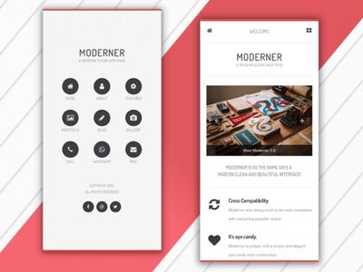 Moderner   Mobile Website Template & Google AMP