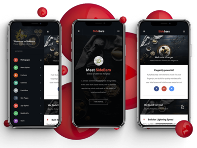 Sidebars 3D | Mobile Website Template + PhoneGap & Cordova App
