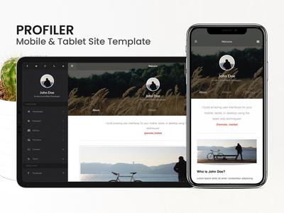 Profiler   Mobile & Tablet Site Template