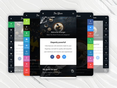 The Wave   Mobile Website Template