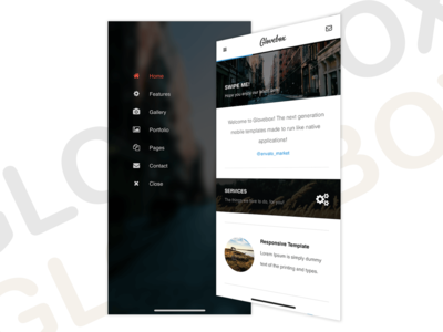 GloveBox 3D | Mobile Site Template