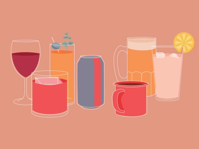 Your Brand Walks Into a Bar drinks vector blog illustrator illustration
