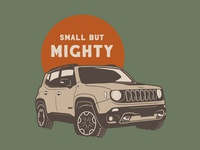 Small But Mighty Renegade overland offroad vector renegade jeep illustration illustrator