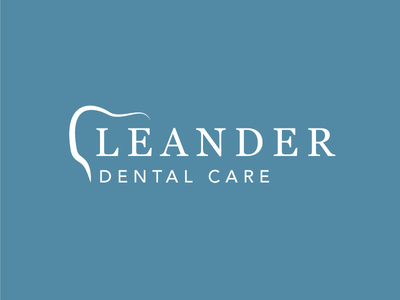 Leander Dental Care oral care oral teeth hygiene healthcare dentist dental branding identity logo